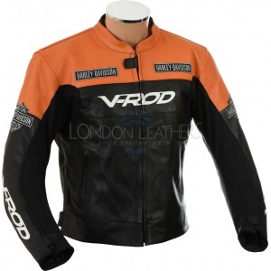 Harley Davidson V-Rod Leather Motorcycle Jacket