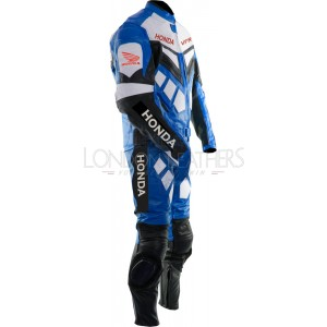 Honda VFR BLUE Motorcylce Leather Race Suit