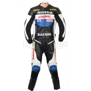 Honda Racing CBR Classic BLUE Motorcycle Leather Suit