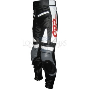 Honda Grey CBR Leather Motorcycle Trouser