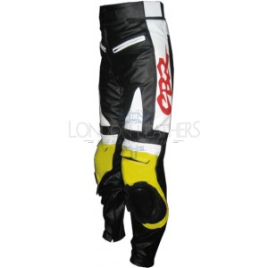 Honda Yellow CBR Leather Motorcycle Pant