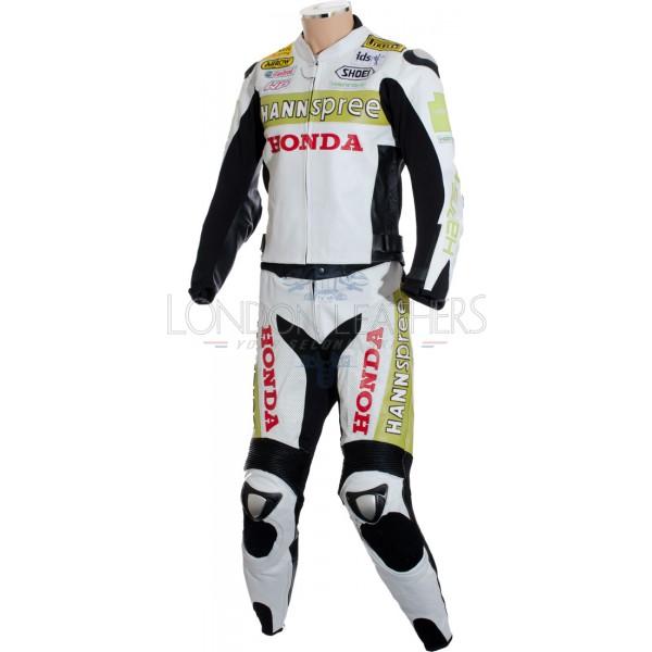 Hannspree Logo: Honda Hannspree Limited Edition Race Leathers