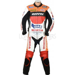 Honda Repsol Gas Moto GP Biker Leather Suit