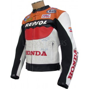 Honda Repsol MotoGP Perforated Biker Jacket