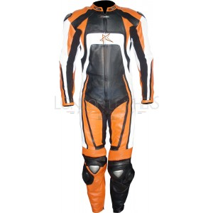 RTX Pro KTM Orange Motorcycle Racing Biker Leathers