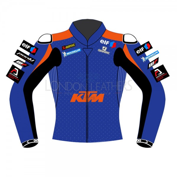 KTM Tech 3 Racing Oliveira Syahrin MotoGP Replica Leather Biker Jacket