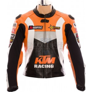 KTM Racing Leather Motorcycle Biker Jacket
