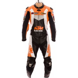 KTM Racing Orange Pro Biker Racing Leathers