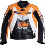 SALE - KTM Racing Orange Motorcycle Leather Jacket