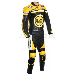 Lucky Strike Yellow Special Edition Biker Leathers