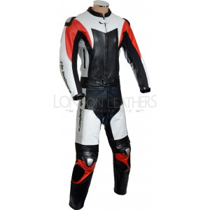 RTX ASSASSIN Red Black Motorcycle Leather 2Pc Suit