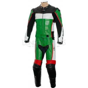 RTX GP Tech Green Racing Leather Motorcycle Suit