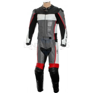 RTX GP Tech Grey Racing Leather Motorcycle Suit