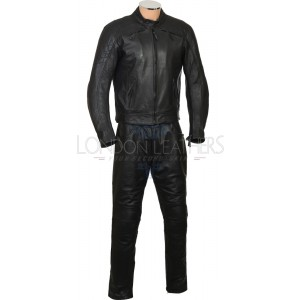 RTX Cruiser Pro Premium Leather Motorcycle 2 Piece Suit Jacket & Trouser Set