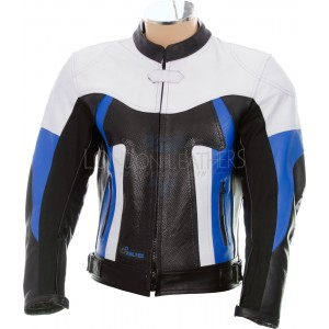 RTX TITAN Blue Motorcycle Leather Race Jacket
