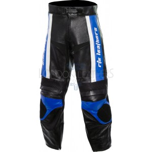 RTX TITAN Blue Motorcycle Leather Trouser Pant