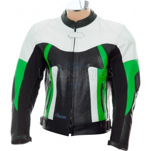 RTX TITAN Green Motorcycle Leather Jacket