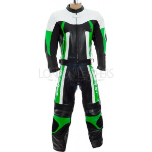 RTX TITAN Green Motorcycle Leather 2Pc Suit