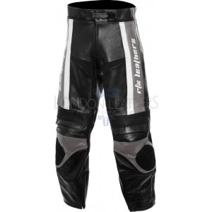 RTX TITAN Grey Motorcycle Leather Trouser Pant