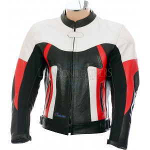 RTX TITAN Red Motorcycle Leather Race Jacket