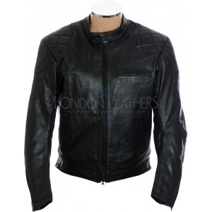 RTX Retro Sports Touring Black Leather Biker Jacket