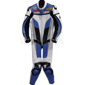 RTX Blue Spartan Sports Biker One Piece Leather Suit