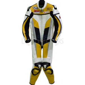 RTX Yellow Spartan Sports Biker One Piece Leather Suit