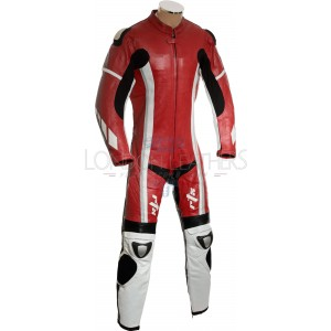 RTX Speedblock Red One Piece Racing Leathers