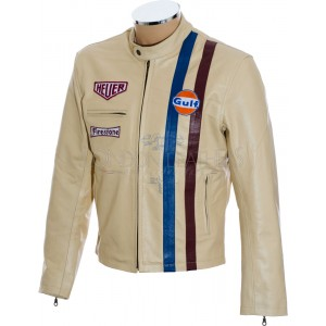Steve McQueen Le-man CREAM LE MAN Leather Jacket