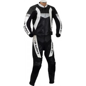 RTX Violator Black Motorcycle Racing Leather Suit