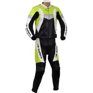 RTX Violator Floro Yellow Leather Motorcycle Suit