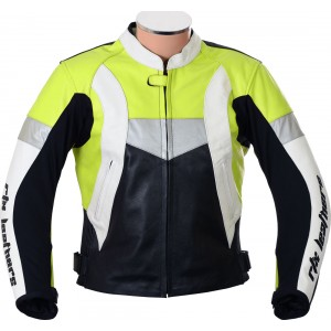 RTX Violator Floro Yellow Motorcycle Leather Jacket
