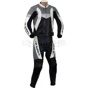 RTX Violator Sport Grey Motorcycle Racing Leathers