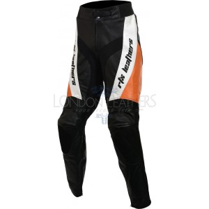 SALE - RTX Violator Orange Black Biker Trouser - M