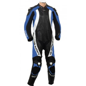 RTX Aero Evo Blue Motorcycle 1pc Racing Leather Suit