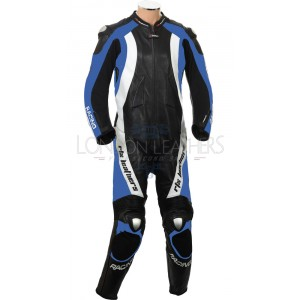 RTX Aero Evo Blue Motorcycle Racing Leather Suit