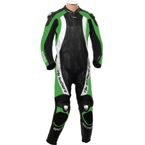 RTX Aero Evo Green Motorcycle 1pc Racing Leather Suit