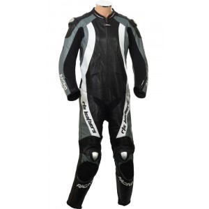 RTX Aero Evo Grey Motorcycle 1pc Racing Leather Suit