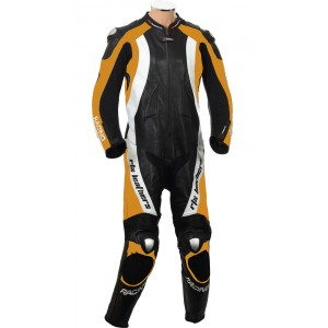 RTX Aero Evo Orange Motorcycle 1pc Racing Leather Suit