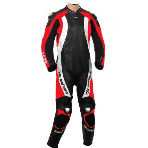 RTX Aero Evo Red Motorcycle 1pc Racing Leather Suit