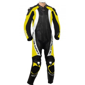 RTX Aero Evo Yellow Motorcycle 1pc Racing Leather Suit