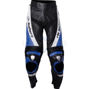 RTX BLUE Aero Evo Leather Biker Trouser Pant