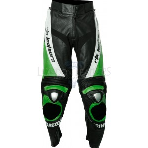 RTX GREEN Aero Evo Leather Biker Trouser Pant