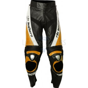RTX ORANGE Aero Evo Leather Biker Trouser Pant