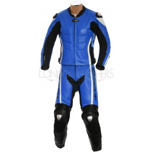 RTX Akira Blue CE Armour Leather Motorcycle SUIT