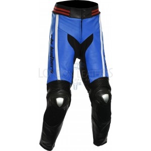 RTX Akira Blue Leather Motorcycle Trouser Pant