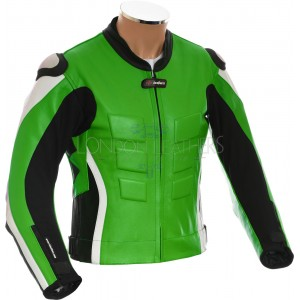 RTX AKIRA Green Leather Motorcycle Biker Jacket