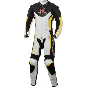 RTX Yellow Arbiter Sports Biker One Piece Leather Suit