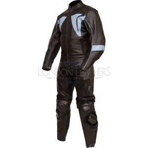 RTX Blade Trinity Black Leather Biker 2pc Suit