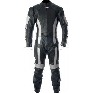 RTX Silver Blade Pro Race Ready Leather Biker Suit